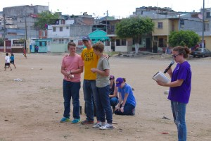 Sharing God's word with the community through skits