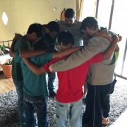 Prayer time in the Benaiah Home